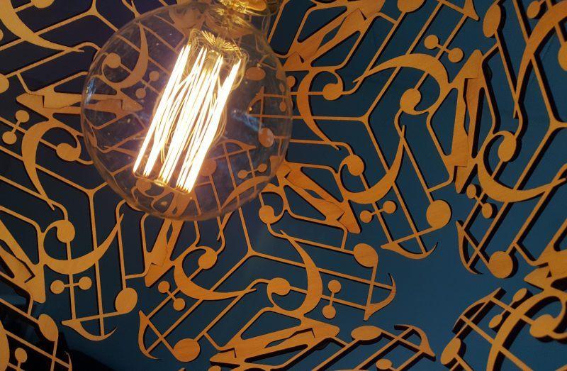 Hanglamp Musica Prima in eiken fineer