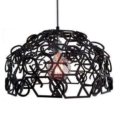 Hanglamp Velo 2 in mat zwart acrylaat