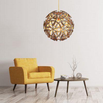 Hanglamp Antler 1 in eiken fineer